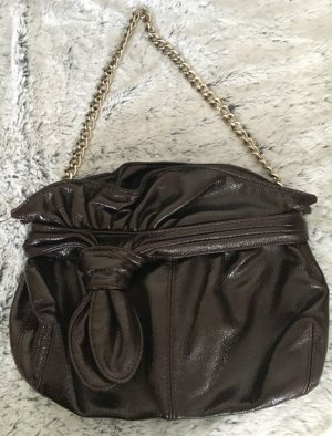 Vintage Crossbody bag dark brown-black brown