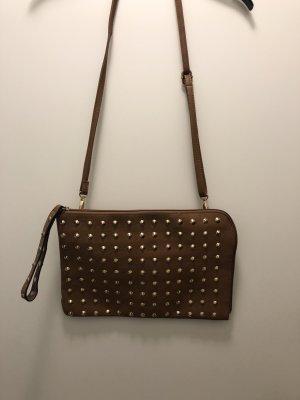Crossbody bag cognac-coloured-brown