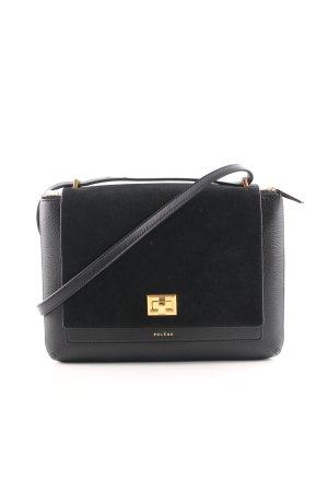 Umhängetasche schwarz-goldfarben Elegant
