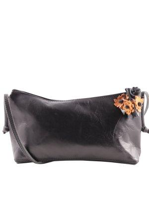 Umhängetasche schwarz-orange Casual-Look