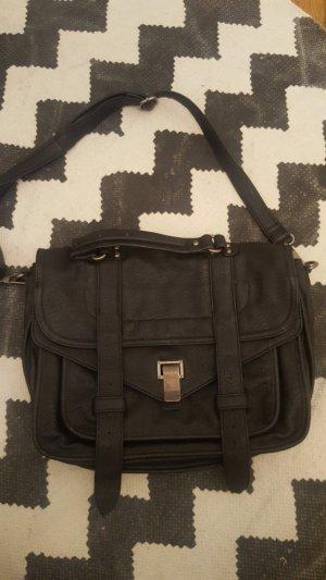 Crossbody bag black-light grey imitation leather