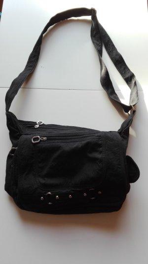 Umhängetasche schwarz viele Taschen