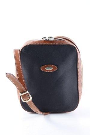 Umhängetasche schwarzbraun-braun Casual-Look