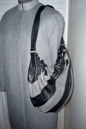 Umhängetasche, Shopper, Schultertasche, grau, schwarz
