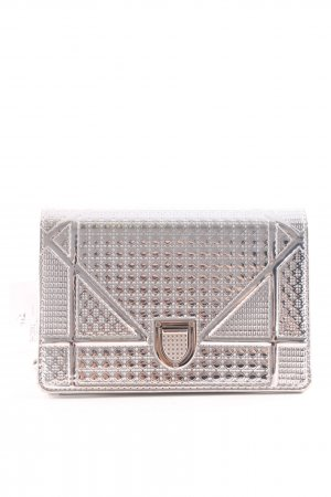 Crossbody bag silver-colored wet-look
