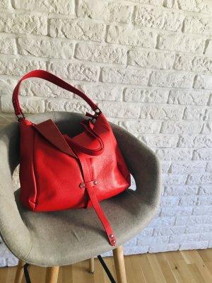 Umhängetasche Tasche Handtasche Leder rot NP 179€ TOP