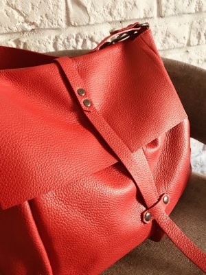 Borse in Pelle Italy Handbag red leather