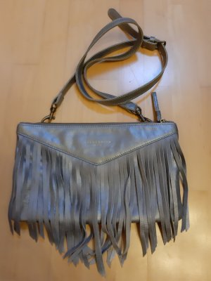 Liebeskind Berlin Fringed Bag silver-colored-light grey leather
