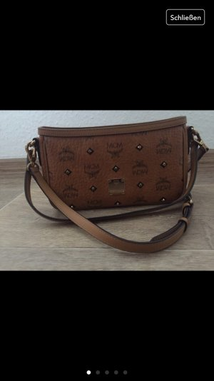 MCM Crossbody bag bronze-colored-black leather