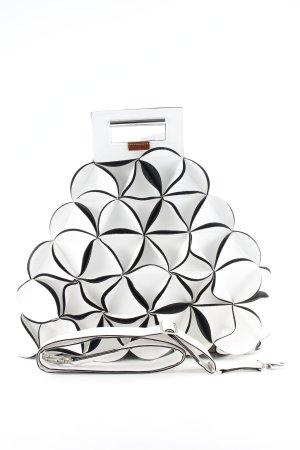 Gekruiste tas wit-zwart extravagante stijl