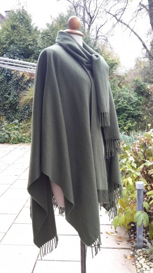 Umhang/Cape 100% Wolle olivgrün onesize Top