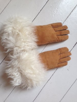 Fur Gloves multicolored leather