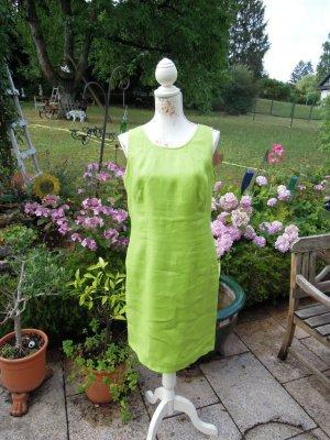 Umlauf & Klein Leinenkleid Etuikleid Sommerkleid Grün Gr. 40