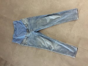H&M Hoge taille jeans staalblauw-azuur