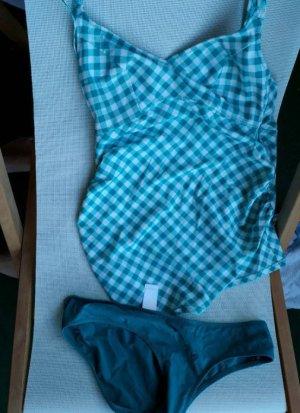Anita Tankini blanc-turquoise