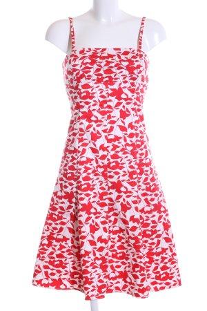 Un Deux Trois A-Linien Kleid rot-weiß Allover-Druck Casual-Look