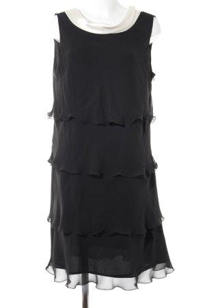 Un Deux Trois Abendkleid schwarz-wollweiß Elegant