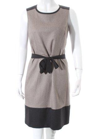 Un Deux Trois Etuikleid graubraun-schwarz meliert klassischer Stil