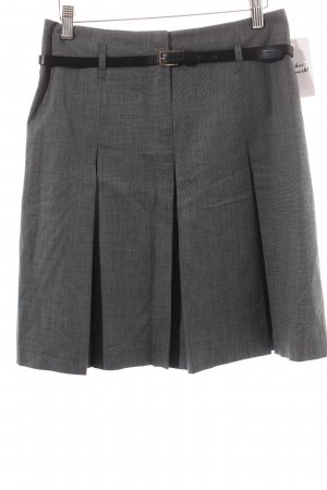 Un Deux Trois Jupe à plis gris anthracite moucheté style universitaire
