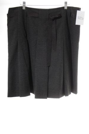 Un Deux Trois Faltenrock dunkelgrau-schwarz Elegant