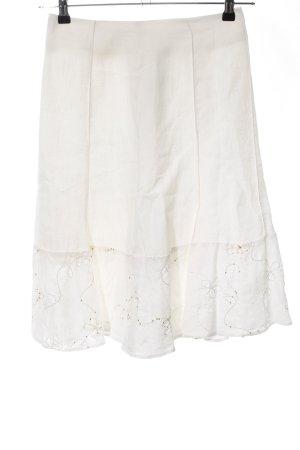 Un Deux Trois Gonna a campana bianco motivo floreale stile casual