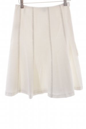 Un Deux Trois Falda Godets blanco elegante