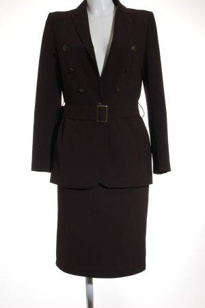 Un Deux Trois Tailleur-pantalon brun noir style d'affaires