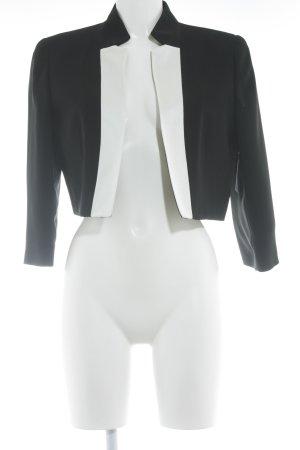 Un Deux Trois Kurz-Blazer schwarz-weiß Elegant