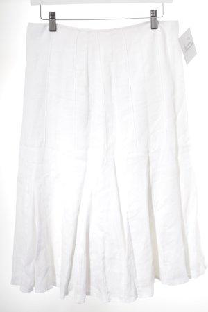Un Deux Trois Jupe en lin blanc style décontracté