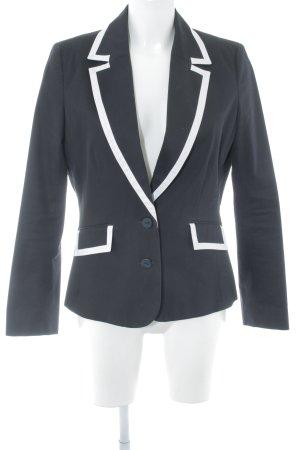 Un Deux Trois Long-Blazer schwarz-weiß Business-Look