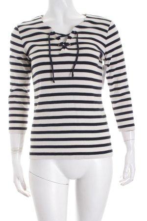 Un Deux Trois Shirt wollweiß-schwarz Streifenmuster Paris-Look