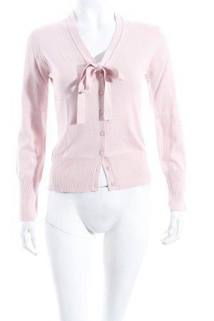 Un Deux Trois Strick Cardigan rosa schlichter Stil