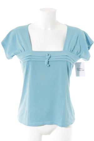 Un Deux Trois T-Shirt neonblau Casual-Look