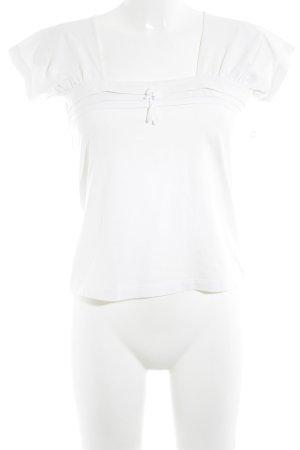 Un Deux Trois T-Shirt weiß Casual-Look