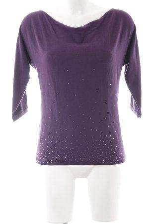 Un Deux Trois Waterval shirt bruin-paars simpele stijl