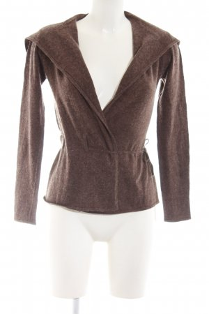 Un Deux Trois Wraparound Jacket brown flecked casual look