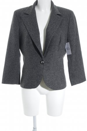 Un Deux Trois Wool Blazer dark grey business style