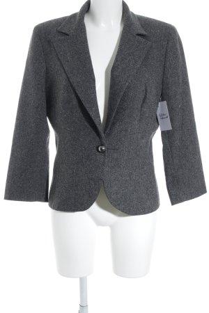Un Deux Trois Blazer en laine gris foncé style d'affaires