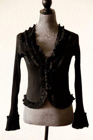 un1deux2trois3 Paris  Elegante plissierte Bluse mit Rüschenbesatz
