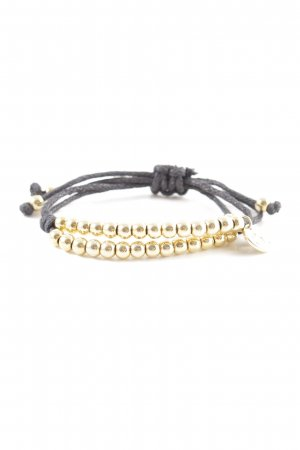 Bracelet gold-colored-black casual look