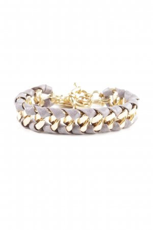 Bracelet gold-colored-light grey casual look