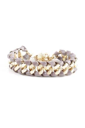 Bracelet light grey-gold-colored business style