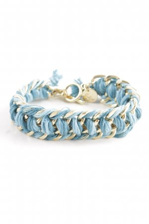 Bracelet blue-gold-colored casual look
