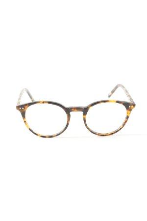 Occhiale marrone-arancione chiaro Stampa leopardata stile casual