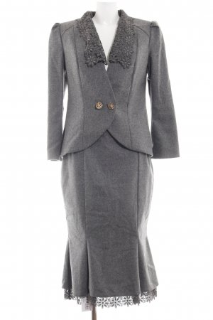 Ladies' Suit light grey flecked business style
