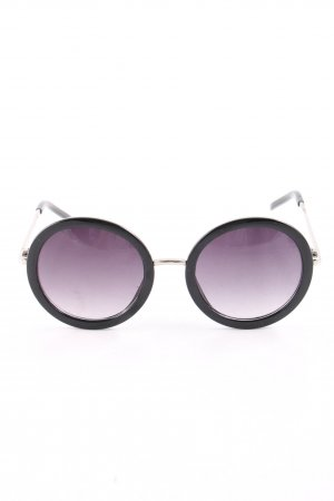 Round Sunglasses black-lilac casual look
