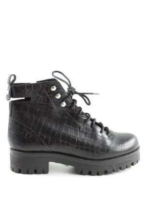 Bottines à lacets noir style décontracté