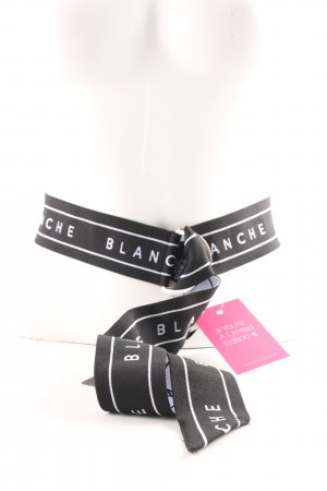 Fabric Belt black-white casual look
