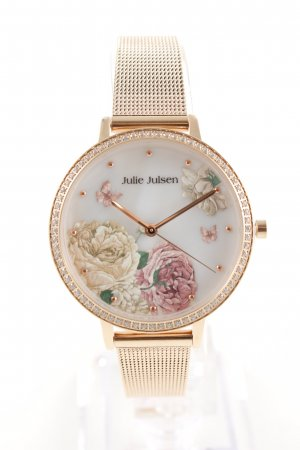 Watch With Metal Strap flower pattern business style