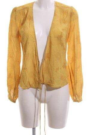 Wraparound Blouse light orange allover print casual look